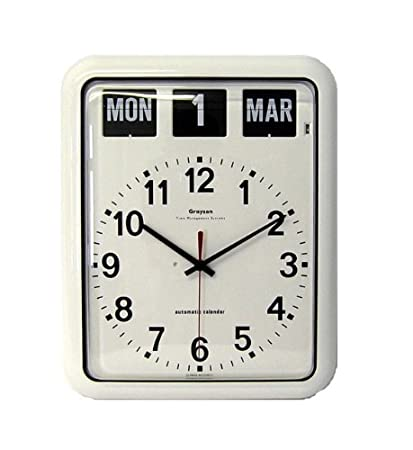 NRS Healthcare - Reloj de pared analógico con calendario (tamaño grande)