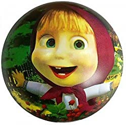 Masha and the Bear Rubber Inflatable Ball (9inch) Party Toy Rest on The Street