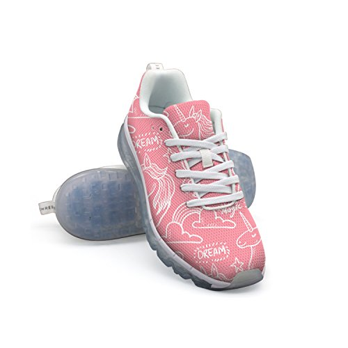 GDDF HXB Cute Unicorns Men's Air Cushion Running Shoes White outlet the cheapest cheap footlocker finishline with paypal sale online shop cheap price visit sale online zcs3nlIef