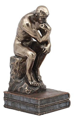 - Ebros Auguste Rodin Le Penseur The Thinker Sitting On Books Statue For Academic Achievement Award Library And Study Room Decor The Thinker Figurine The Poet Sculpture