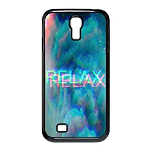 Cheap phonecase, Funny quotes, Keep relax picture for black plastic SamSung Galaxy S4 I9500 case