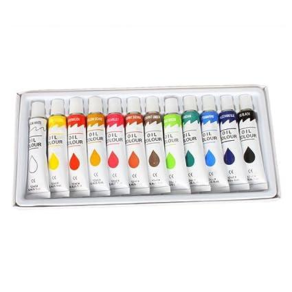 US Art Supply Professional Oil Paints 12 Tubes Oil Colours Painting Set