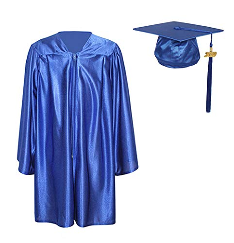 GraduationForYou Shiny Kindergarten Gown Cap Tassel 2019 Royal -