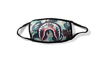 Whobabe personalidad tiburón polvo de la manera máscaras máscaras de camuflaje máscara negra (verde)