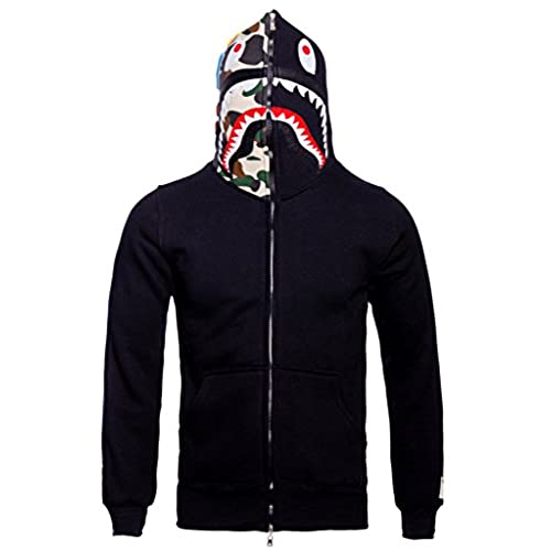 Christo Mens Hoodies Sweatshirt Fashion Outdoor Tracksuit Casual Hip-Hop Funny Coat, Black02, L