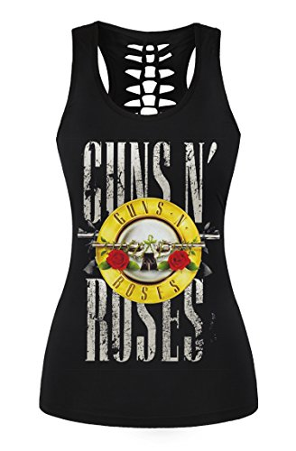 FISACE Women's Skull Print Hollow Out T-shirt Crew Neck Sleeveless Plus Size Tank Top – Small, Yellow