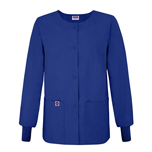 Sivvan Women's Scrub Warm-Up Jacket / Front Snaps - Round Neck - S8306 - RYL - 2X