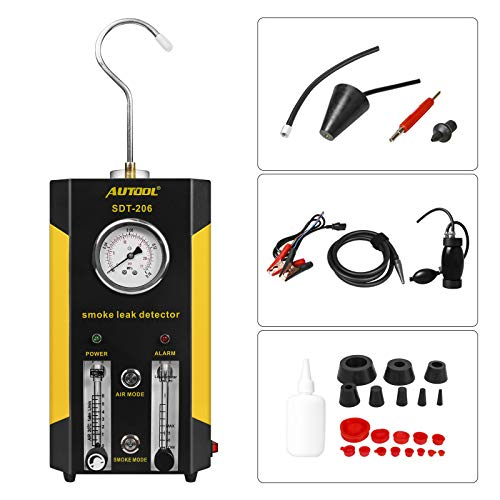 AUTOOL SDT206 Automotive Fuel leakage Diagnostic Tester 2 MODES Car Conduit PIPE System Leakage Tester Car Fuel Leak Detector For 12V Vehicle Boat With Adjustable FlowMeter EVAP Leak Testers Detectors
