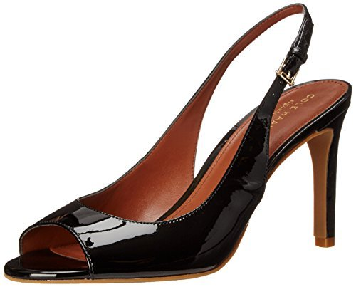 Cole Haan Women's Juliana Open Toe Sling Dress Sandal, Black, 11 B US