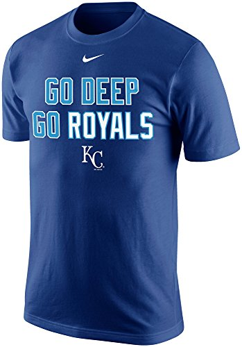 Nike Kansas City Royals Mens Mlb Go Deep Go Royals Playoff Hunt T Shirt  Xl  Rush Blue