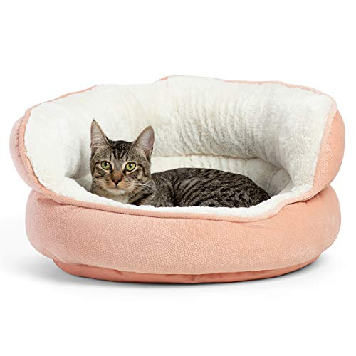 Best Friends by Sheri Mini Pet Throne – Luxury Dog and Cat Bed, High Walls for Security and Deep Rest in Rose Pink