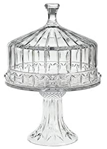 Heavy Shannon Crystal Pedestal Domed Cake Plate Stand Home Kitchen