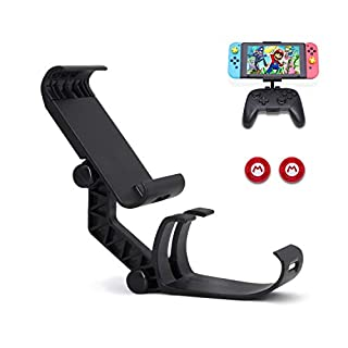 Dainslef Switch Pro Controller Mount for Switch/Switch Lite, Foldable Switch Pro Holder, Game Clamp/Mount for Switch Pro controller and Switch/Switch Lite(Switch pro/ Switch/ Switch Lite Not Included)