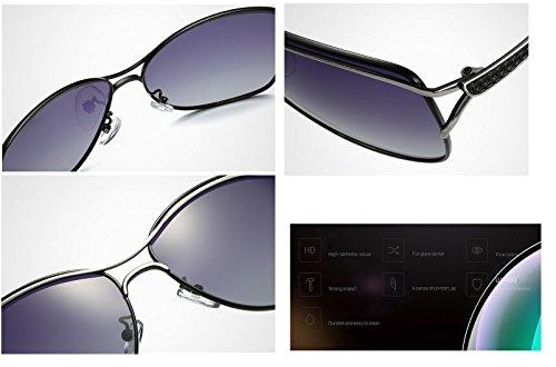 élégantes Femmes Mode Lunettes Eyewear Soleil Femmes Larged encadrées XZP de Soleil polarisées Adultes Outdor Dames Accessoires Black de Lunettes de qaIU0