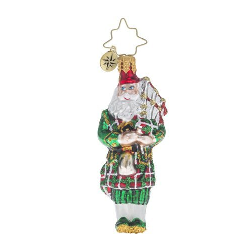 Christopher Radko Piper Piping Little Gem Santa Claus Christmas Ornament by Christopher Radko