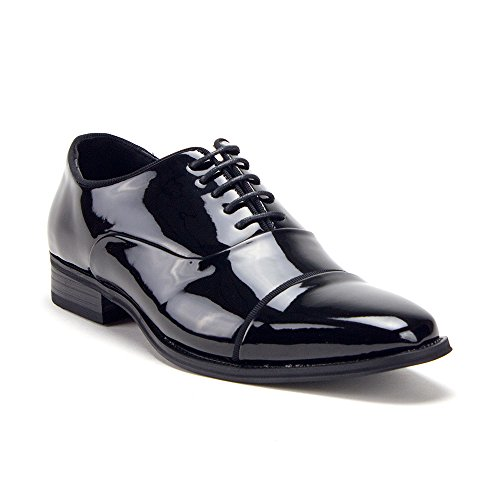 - Men's Patent Leather Formal Wear Oxfords Lace-Up Dress Shoes, Black Patent, 10.5