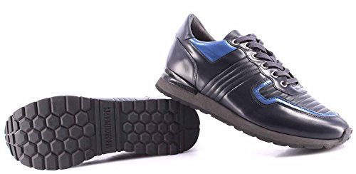 Zapatos Hombres Sneakers BIKKEMBERGS BKE 108231 Mant 380 Leather Brushed Blu New