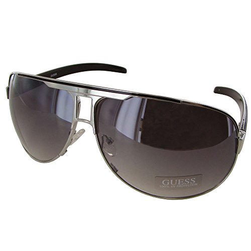 Guess Men GU6591 Aviator Fashion Sunglasses Silver - Mens Guess Glasses