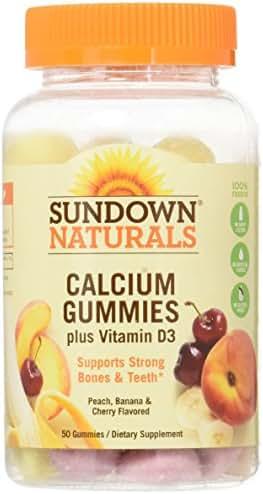 Sundown Calcium Plus Vitamin D3 Gummies, 50 ct