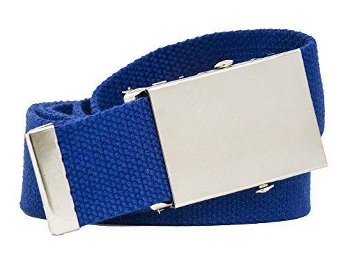 shenky - Cinturón de tela unisex - Ancho 4 cm - Largo 140 cm - Varios  colores - Azul real - 140 cm  Amazon.es  Ropa y accesorios b1cc25a2515a