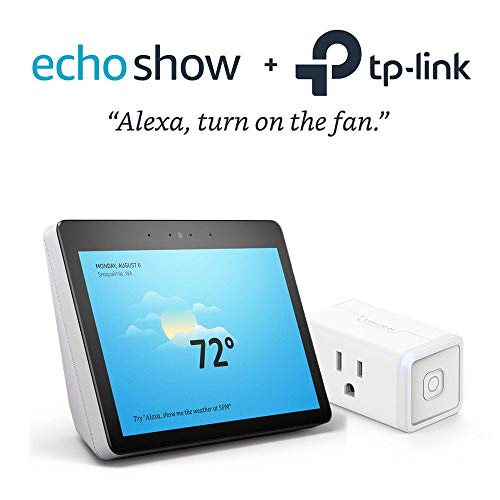 All-new Echo Show (2nd Gen) – Sandstone Fabric Bundle with Kasa Smart Wi-Fi Plug Mini by TP-Link