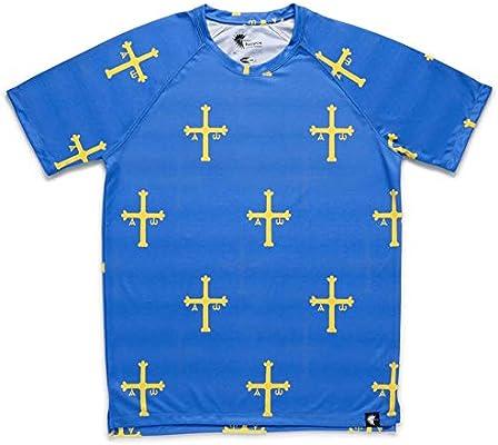 HOOPOE Camiseta Asturias Hombre, Manga Corta, Running, Gimnasio #PatriaQuerida Talla S: Amazon.es: Deportes y aire libre