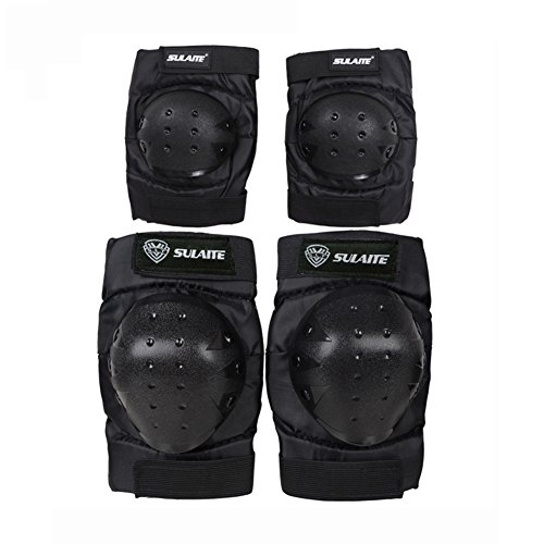 Protective Gear Knee and Elbow Pads Set for Skate & Skateboarding, BMX Biking,In Line skating, Scooter, Cycling