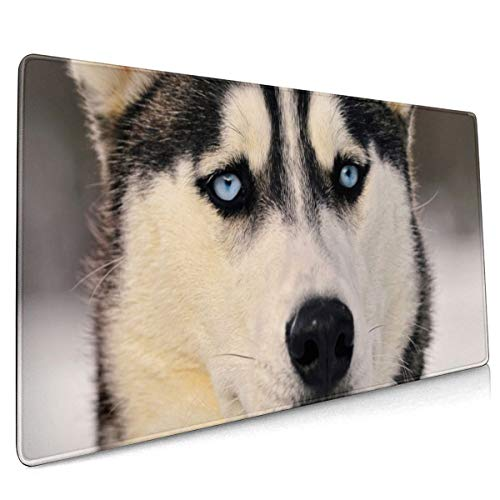 Siberian Husky Mouse Pad 15.8x35.5 in Strong Adhesion, Durable, Green Environmental Protection Operation Feel More Comfortable.