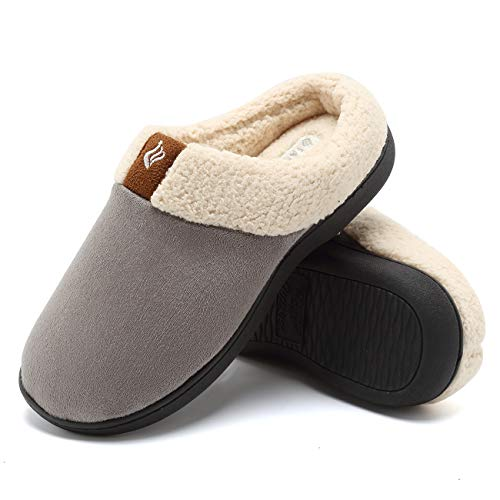 CIOR Fantiny Women's Memory Foam Slippers Suede Wool-Like Plush Fleece Lined Slip-on...