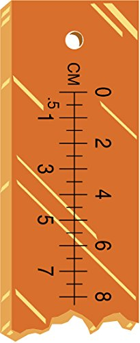 PDC Healthcare RLR-60 X-Ray Marker Accessory, Ruler, Radiopaque, 48'' x 2'' x 1/16'', Amber