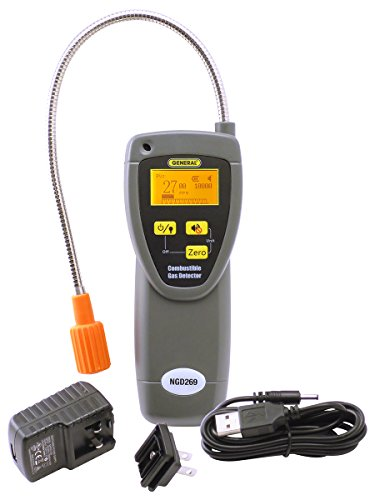 Gas Leak Carbon Monoxide - General Tools NGD269 Combustible Gas Leak Detector