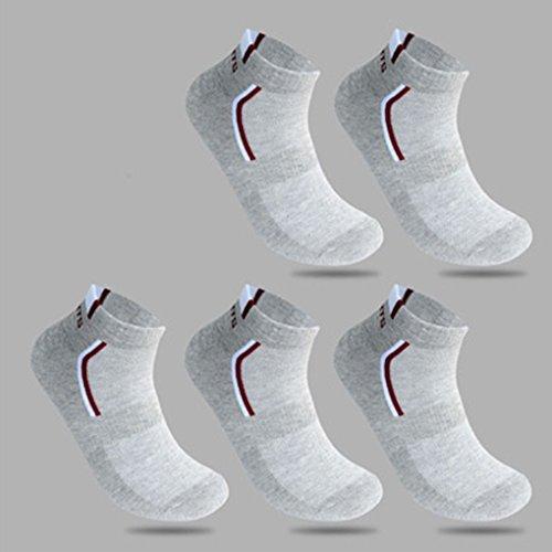 Coton 5pcs Respirant Socquettes Mengonee Sport Eté Chaussettes Mesh Adultes Gris Bateau Printemps Polyester Hommes 8dCwCq1