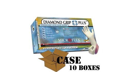 Microflex - Diamond Grip Plus - Latex Gloves - Case Size Medium