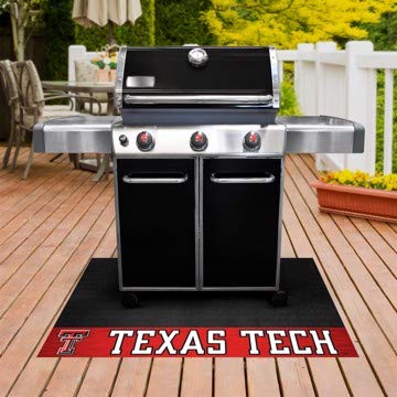 - Fanmats Sports Team Logo Design Texas Tech University Portable BBQ Grill Mat