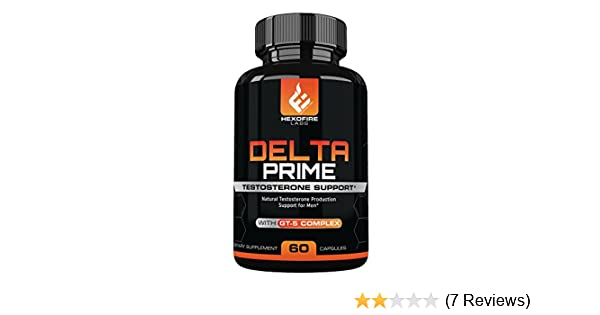 HexoFire Labs Delta Prime, Delta Prime Testosterone Production Support  Capsules with Vitamin