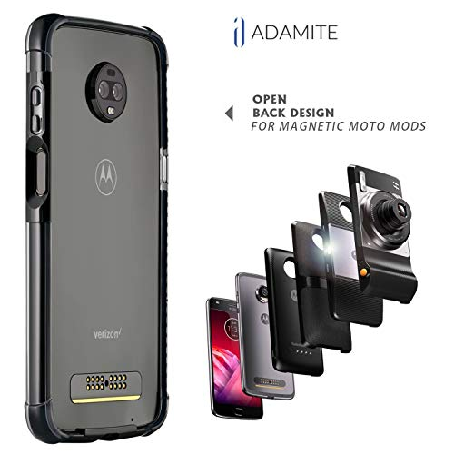Moto Z3 Case Bumper - Mod Compatible (Does not Work with Other Models Moto Z2 Force, Moto Z, Z Force, and Z-Play 1st gen) ADEMITE