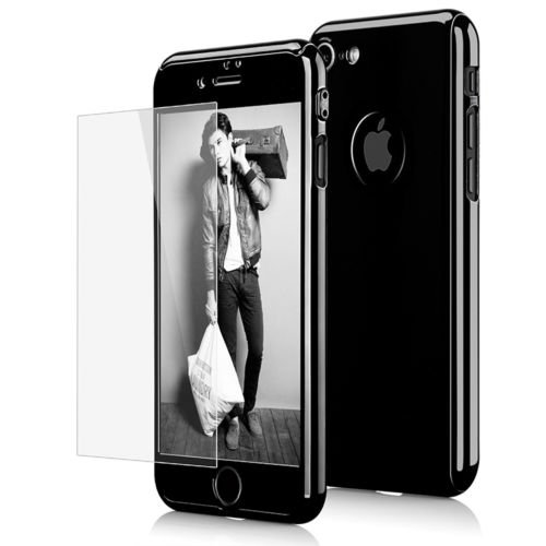 Cheap Cases Hybrid 360° Hard Thin Case + Tempered Glass Cover For Apple iPhone..