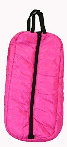 Deluxe Bridle Halter Padded Tote Bag Storage Case with Three Inner Loops Hot Pink Deluxe Tack