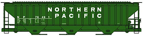 - Accurail HO Scale Kit PS 4750 3-Bay Covered Hopper Northern Pacific/NP #76491