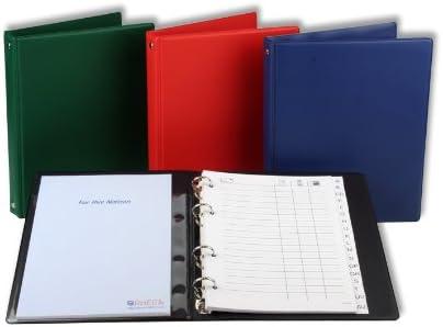 Telefonringbuch Adressbuch DIN A5 / mit ABC Register und Notizblock/rot