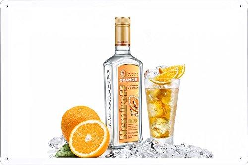 (Orange Flavored Vodka Tin Poster by Food & Beverage Decor Sign)