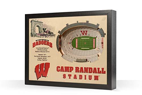 NCAA Wisconsin Badgers 25-Layer Stadiumviews 3D Wall Art