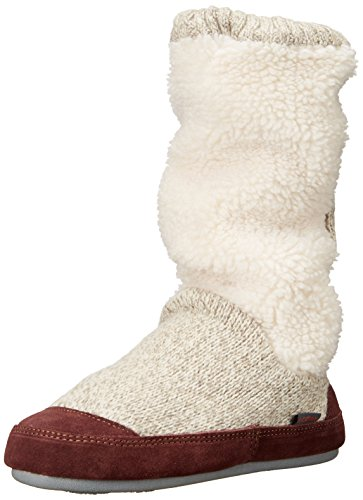 Acorn Suede Boot - Acorn Women's Slouch Boot Slipper, Buff Popcorn, Medium / 6.5-7.5 B(M) US