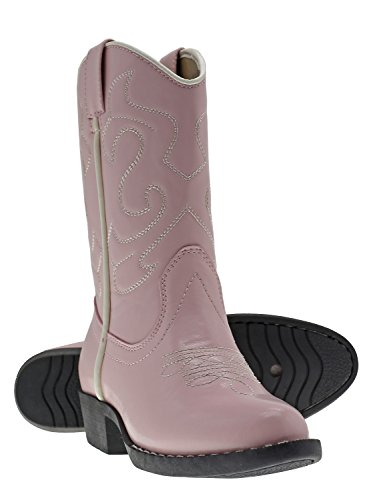 Canyon Trails Kids' Lil Cowboy Pointed Toe Classic Western Boots (Toddler/Little Kid (12 US Little Kid, Pink)