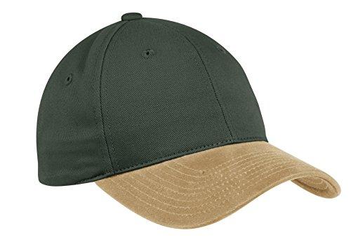 Port Authority Two-Tone Brushed Twill Cap. C815 Loden/Khaki ()