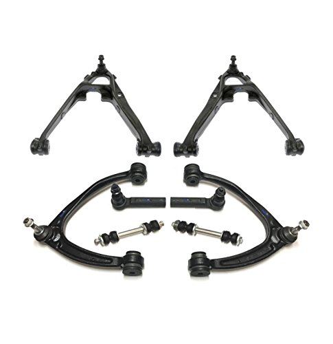 PartsW 8 Pc Suspension Kit for/Cadillac Escalade ESV EXT/Chevrolet Avalanche Silverado1500 Tahoe/GMC Sierra1500 Yukon Control Arms & Ball Joints Assembly, Outer Tie Rod End/Non-Hybrid Vehicles
