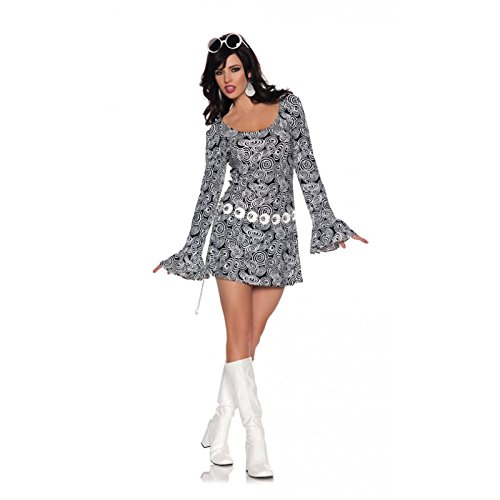 Go Sexy Costumes (Women's Retro Mod GoGo Costume - Fab, Black/White, Small)