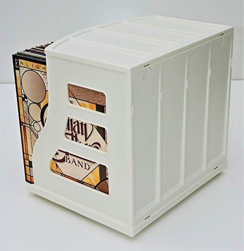 12x12 Paper Storage Organizer Vinyl Record Crate Lp Album