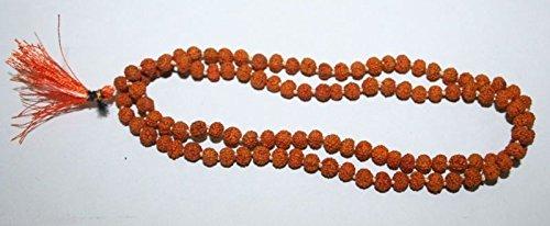 IndianStore4All 5 M.M. SMALLEST Very small and rare Rudraksha mala of 108+1 Hindu prayer beads