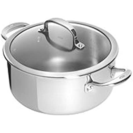 Cuisinart Chef S Classic Stainless Dutch Oven Silver 5 75 Qt